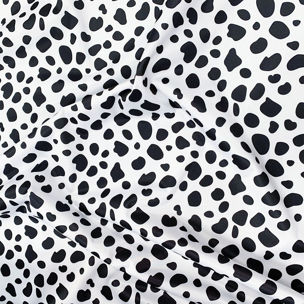 Plush Addict Cow Print Patterned PUL Fabric (Polyurethane Laminate fabric) - Waterproof Breathable Fabric