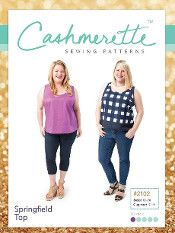 Cashmerette Sewing Patterns -  Springfield Top Dressmaking Pattern