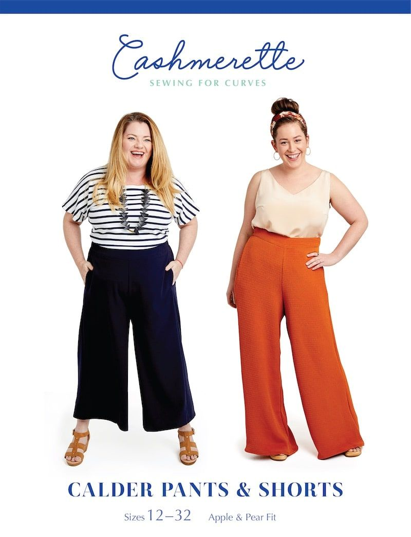 Cashmerette Sewing Patterns -  Calder Pants And Shorts Dressmaking Pattern