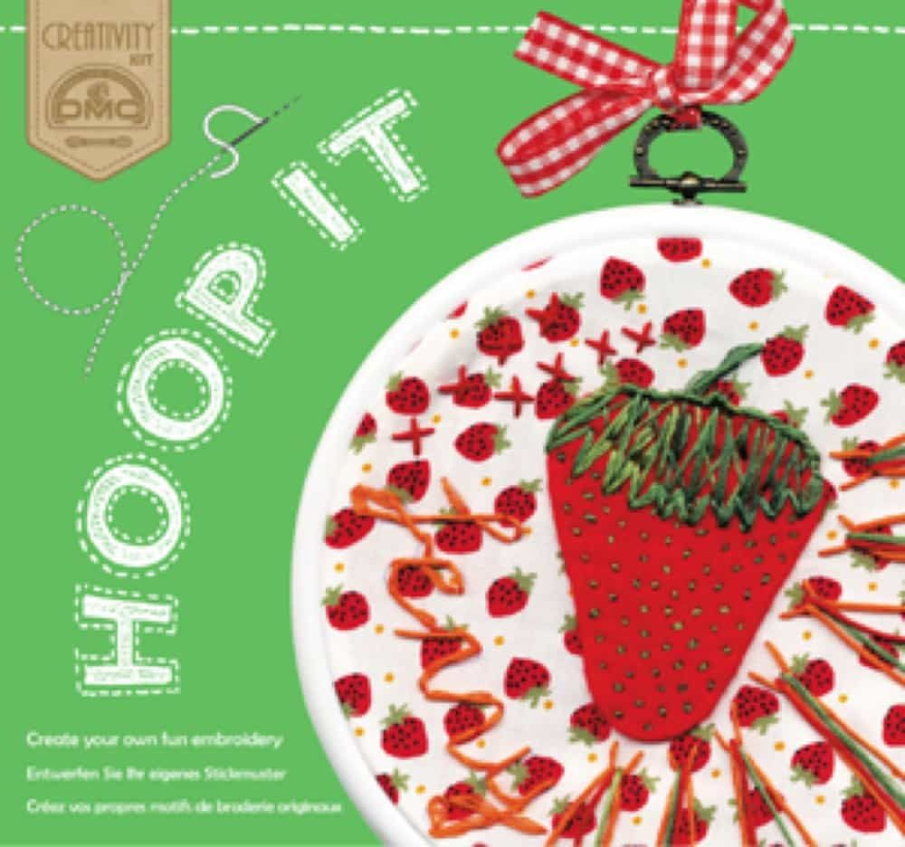 Remnant - DMC Hoop It Strawberries Embroidery Kit - Old Stock