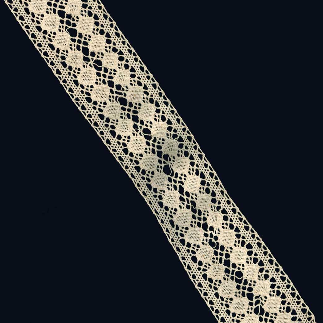 Cotton Lace Trim 70mm Wide - Cream