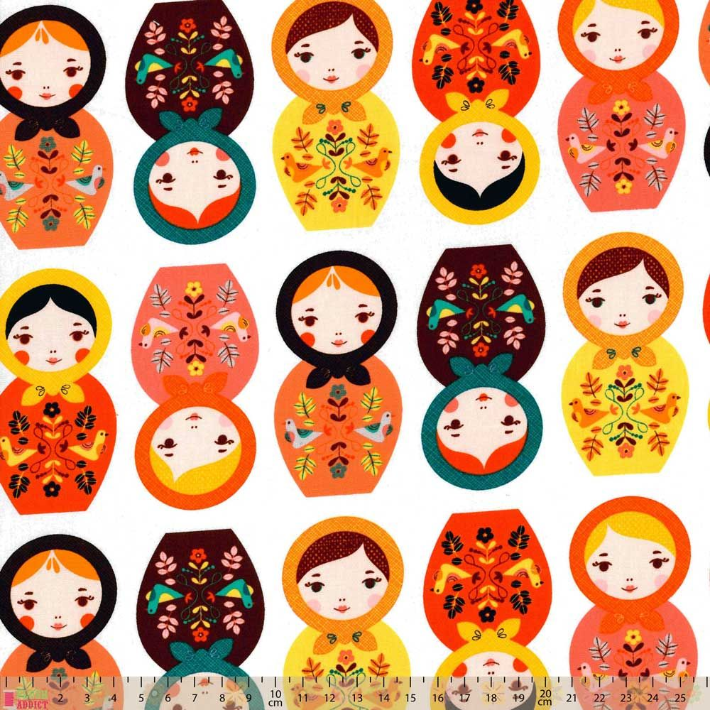 Robert Kaufman - Matryoshka Dolls - Little Kukla Retro