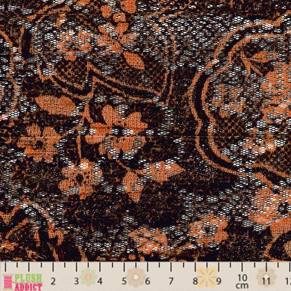Crochet Knit - Brown / Rust Floral