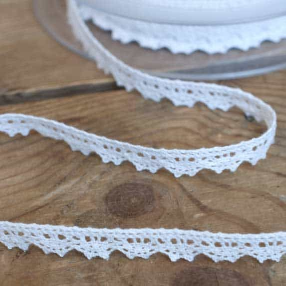 9mm Cotton Lace Trim White
