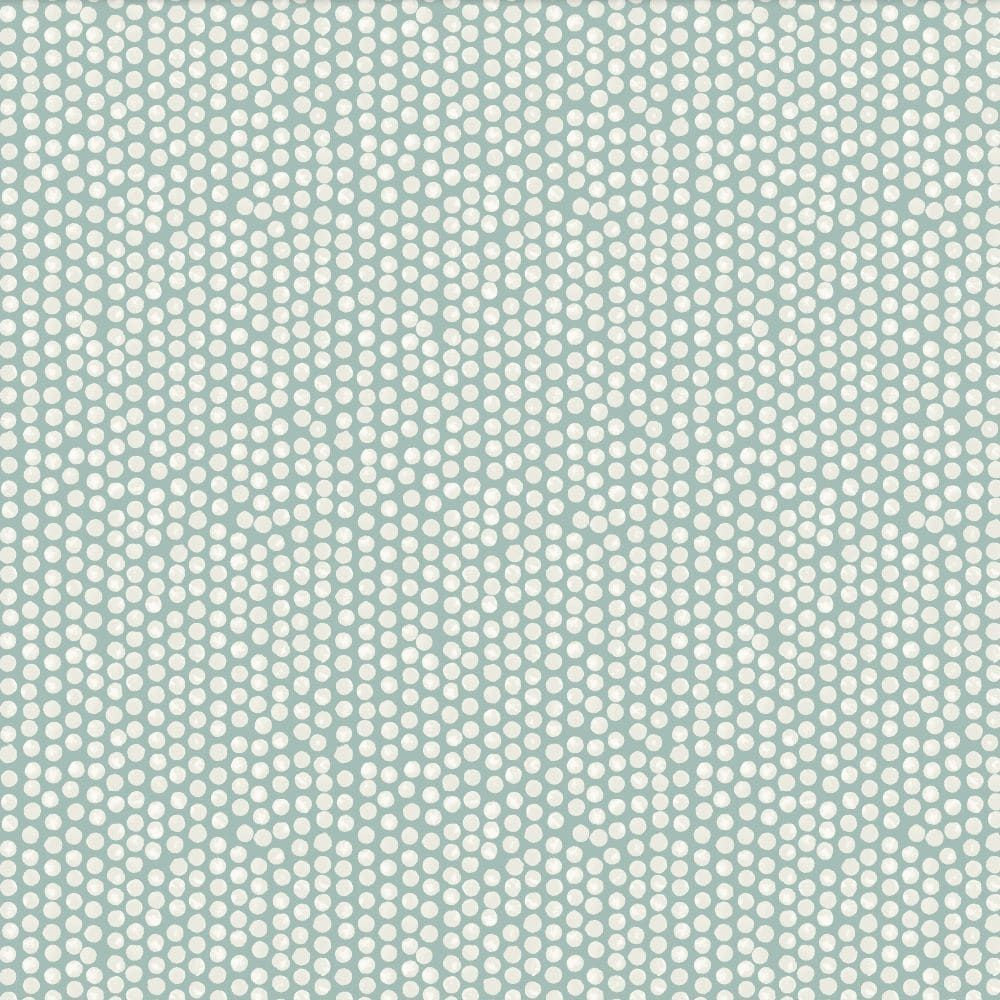Laminated Cotton - Spotty - Duck Egg
