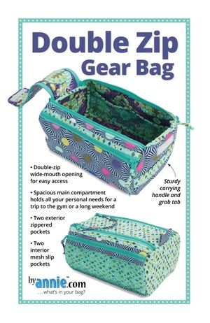 ByAnnie Sewing Pattern -  Double Zip Gear Bag Pattern