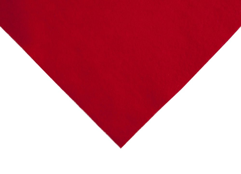 Acrylic Craft Felt Fabric 90cm Wide - Red