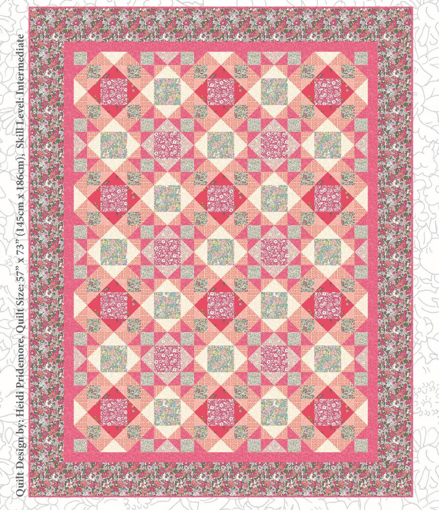 Liberty: The Cottage Garden Floral Garden Quilt Pattern Free Project: Instant Download