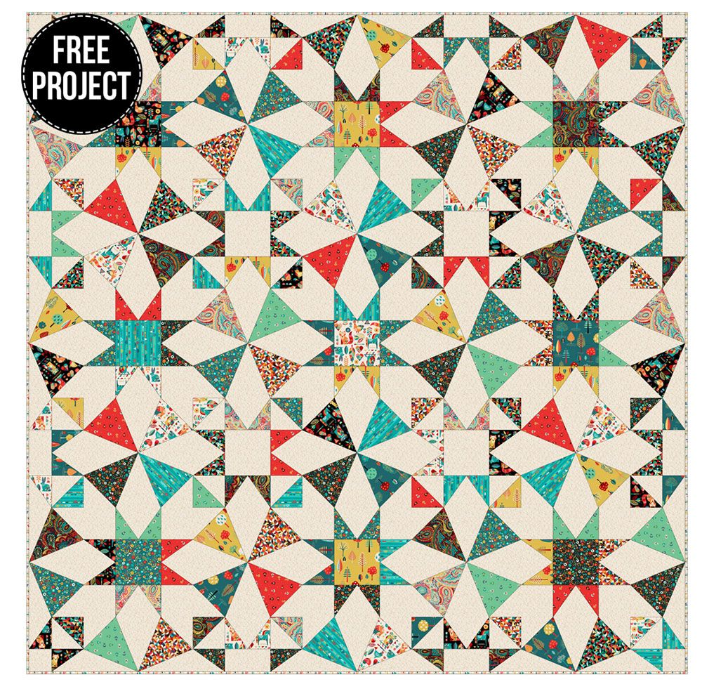 Makower - Folk Friends - Free Quilt Pattern