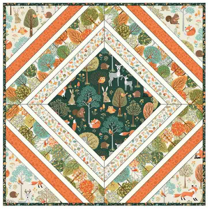 Makower - Forest - Cushion Pattern - Free Instant Download