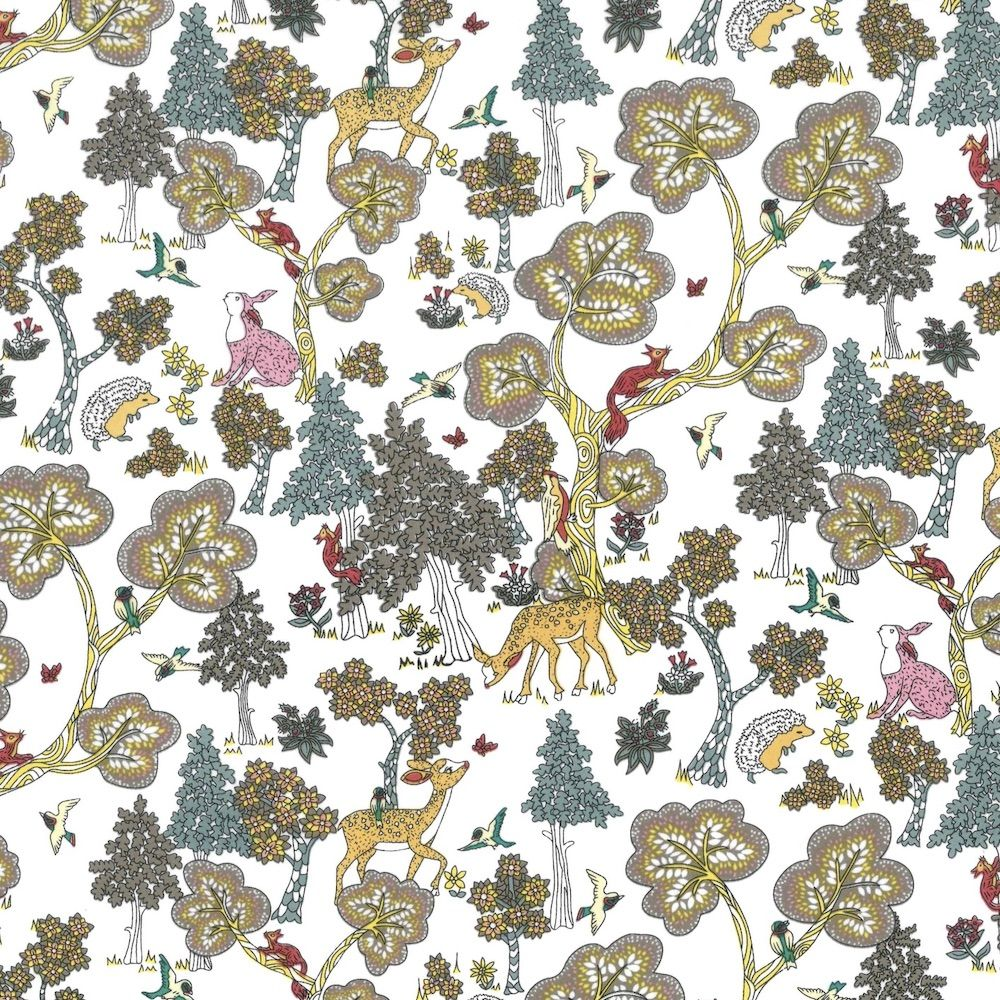 Regency Cotton Lawn Fabric - Forest Life