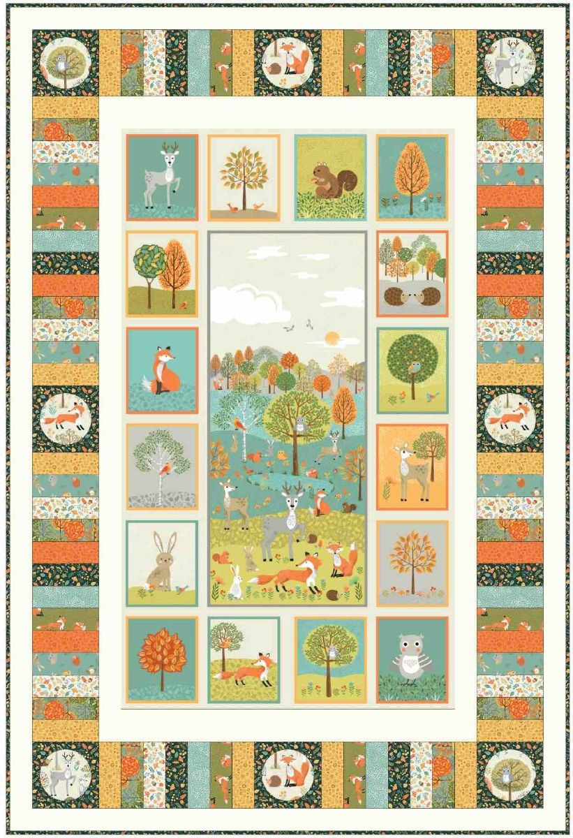 Makower Forest Wallhanging / Quilt - Free Download
