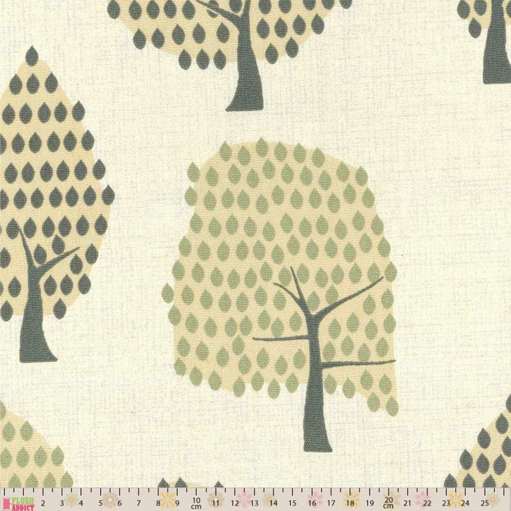 Upholstery / Curtain Fabric - Forest Grey