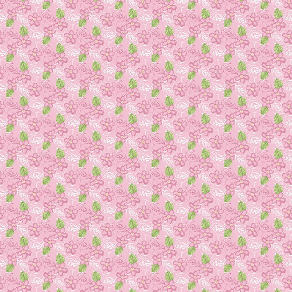 Fabric Freedom - Birds And Butterflies - Floral Pink