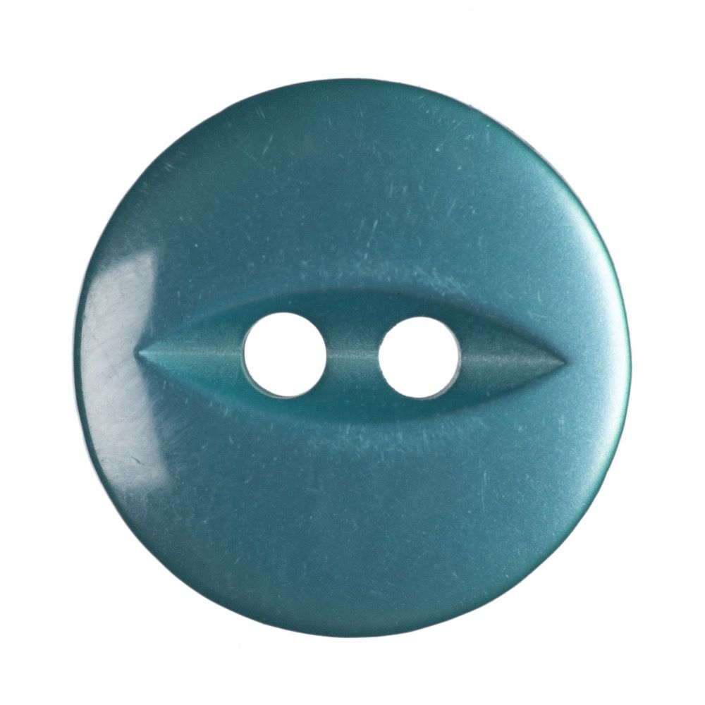 Round Fish Eye Button 2 Hole - Jade - 14mm / 22L