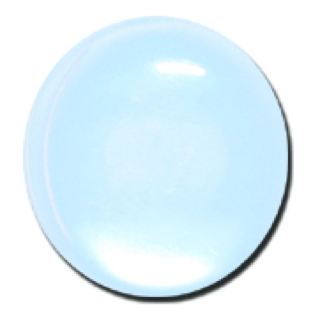 Round Polyester Shank Button - Pale Blue - 20mm / 32L