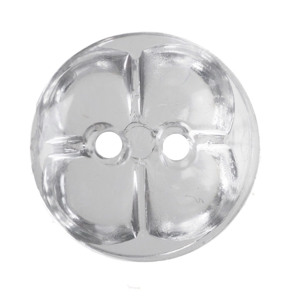 Round Acrylic Crystal Button 2 Hole 12mm