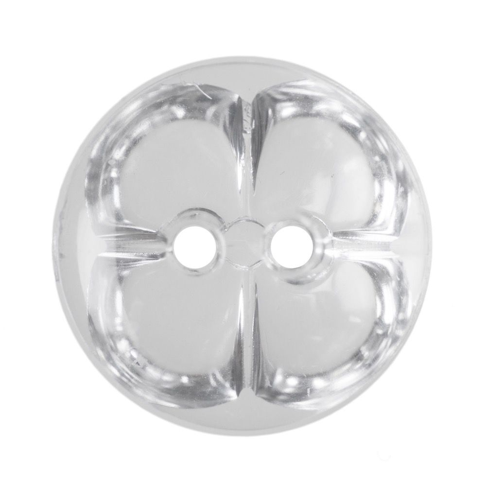 Round Acrylic Crystal Button 2 Hole 5mm