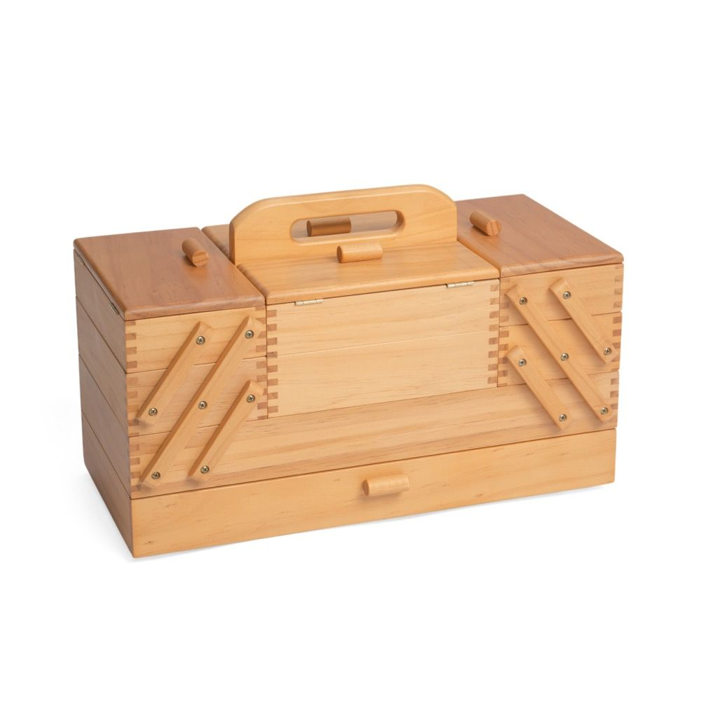 Four Tier Cantilever Wooden Sewing Storage Box
