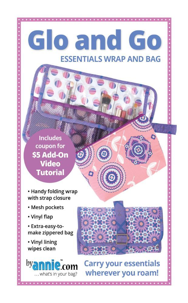 ByAnnie Sewing Pattern -     Glo and Go Bag Pattern