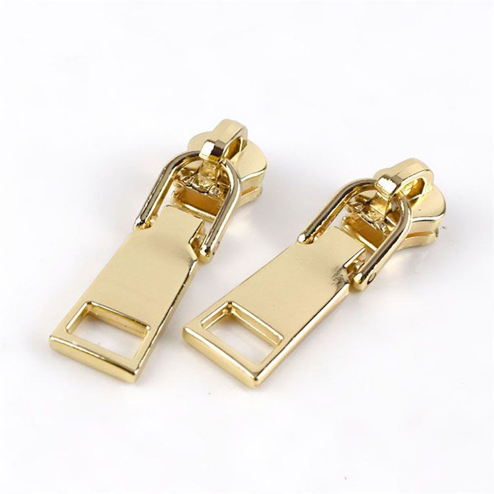 Metal Replacement Zip Pull - For #5 Nylon Zips - Gold Metal Pull