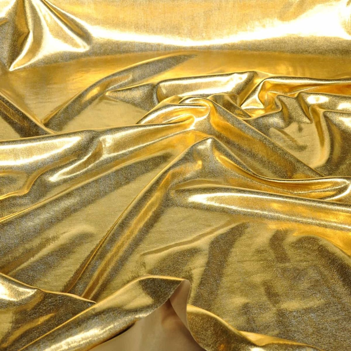 Remnant - Metallic Gold Effect Stretch Dance Wear - 2m x 145cm