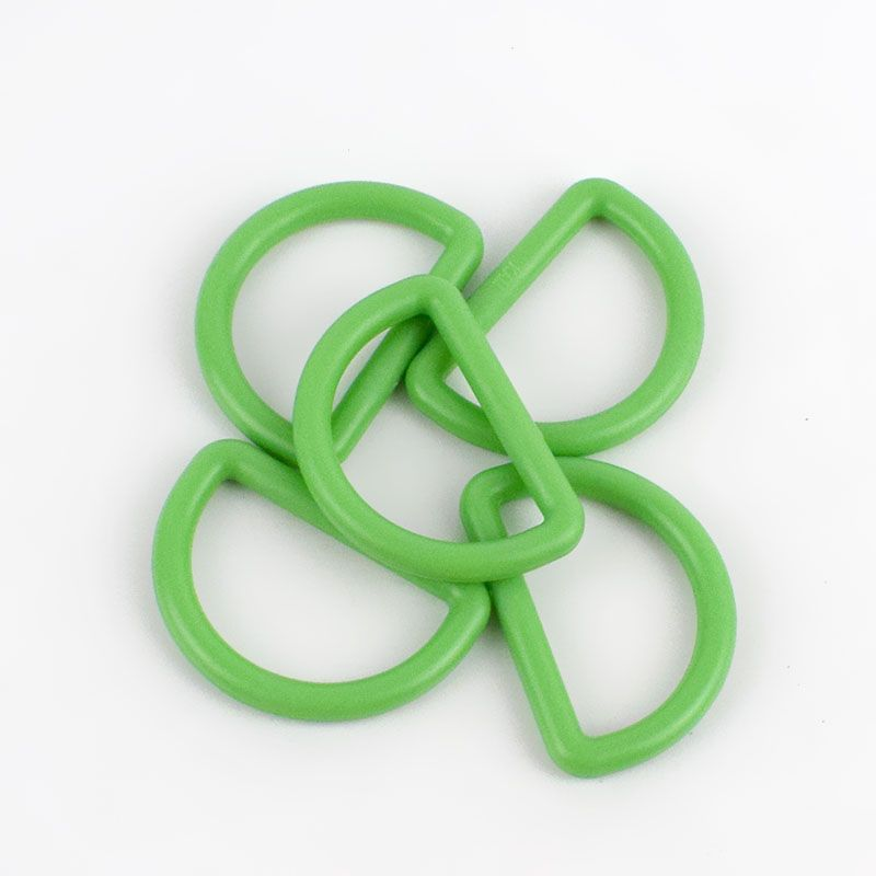 Strong Plastic D Rings 25mm - 2 Pack - Green