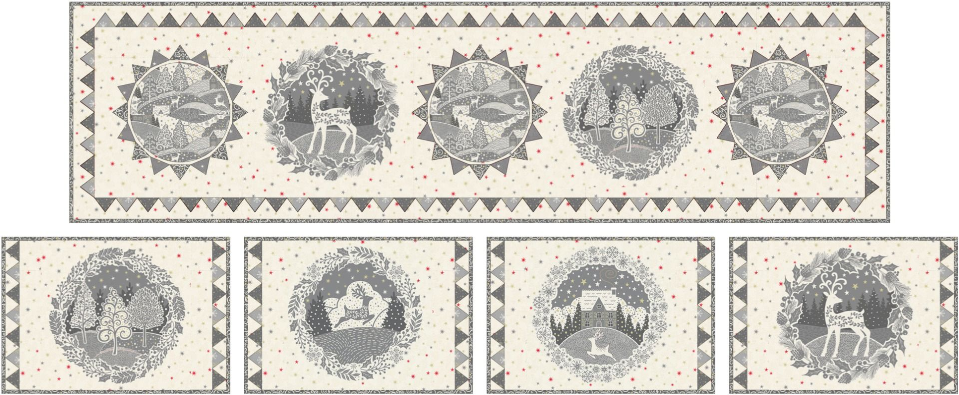 Makower Scandi 2021 Table Runner and Placemats Instructions - Free Download