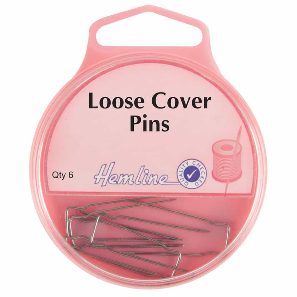 Hemline Twin Prong Loose Cover Nickel Pins 32mm 6pcs