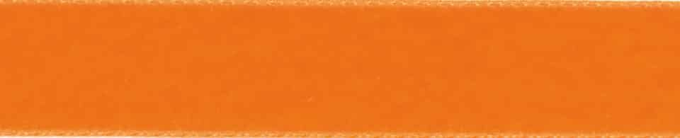 Berisfords Orange Velvet Ribbon - All Widths