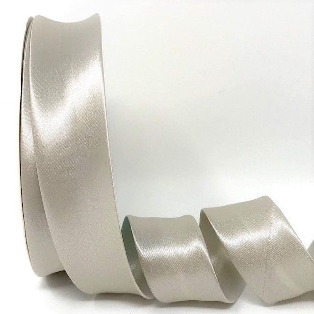 Satin Bias Binding - Cloud Grey - 18mm Or 30mm Wide