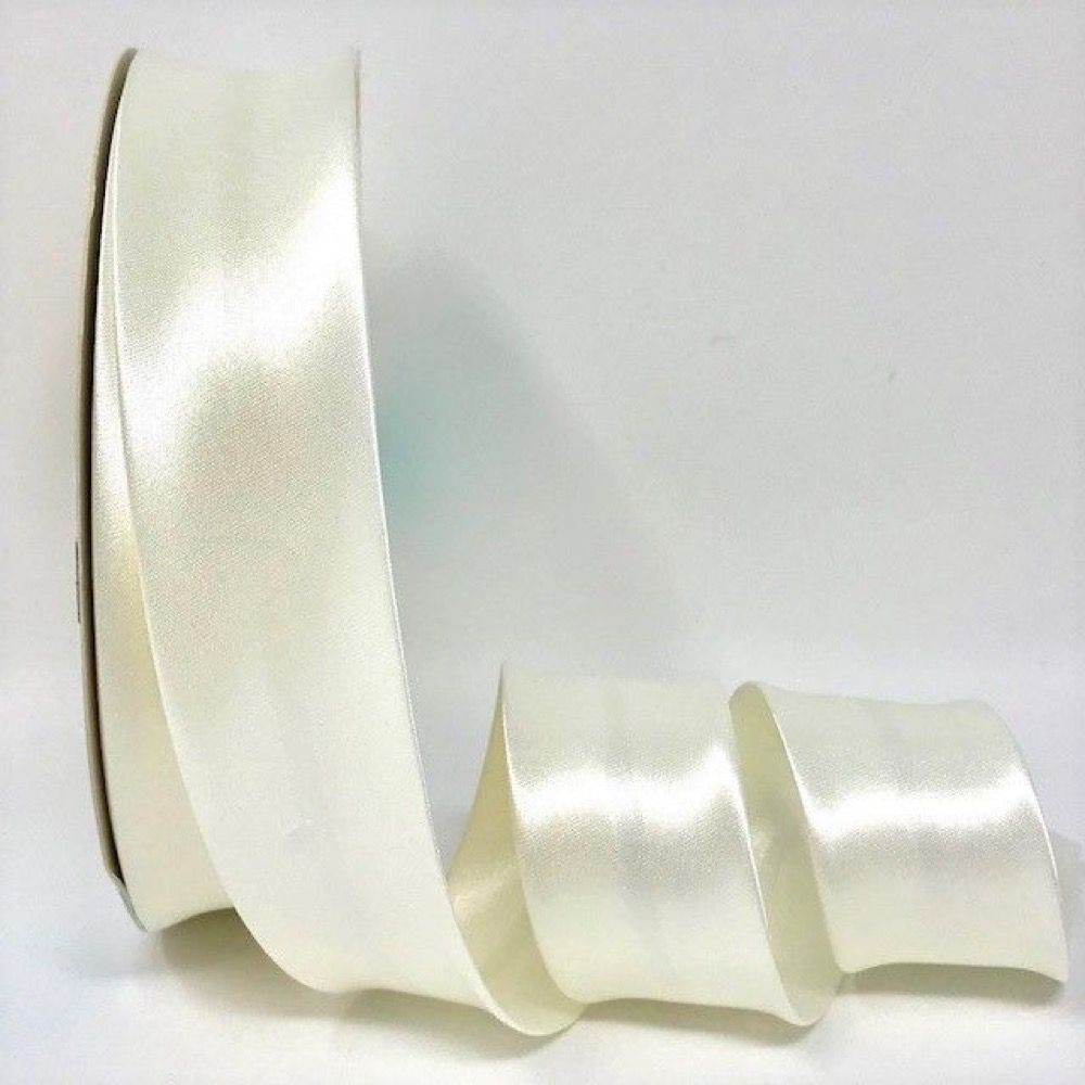 Satin Bias Binding - Off white - 18mm Or 30mm Wide