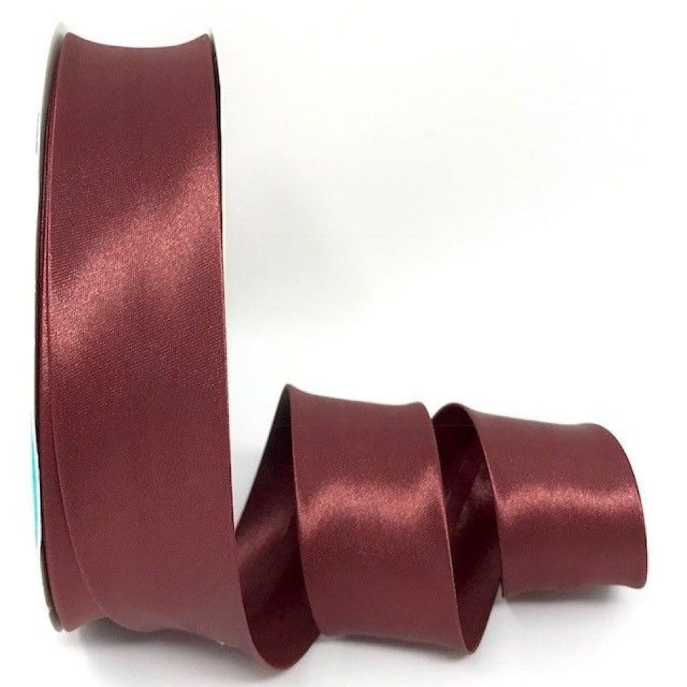 Satin Bias Binding - Burgundy - 18mm Or 30mm Wide