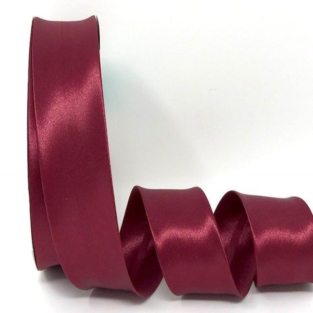 Satin Bias Binding - Wine - 18mm Or 30mm Wide