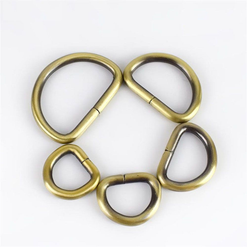 Premium Quality D Rings In Bronze - 5 Sizes
