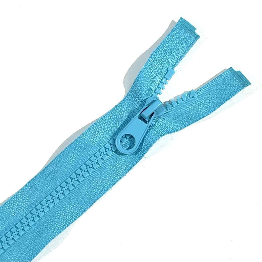 Chunky Open Ended Zips - Turquoise - 10 Inches Up to 36 Inches