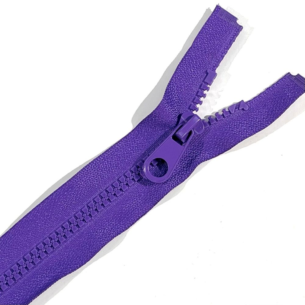 Chunky Open Ended Zips - Purple - 10 Inches Up to 36 Inches