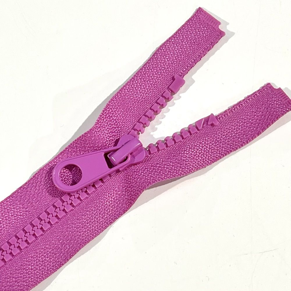 Chunky Open Ended Zips - Fuchsia - 10 Inches Up to 36 Inches