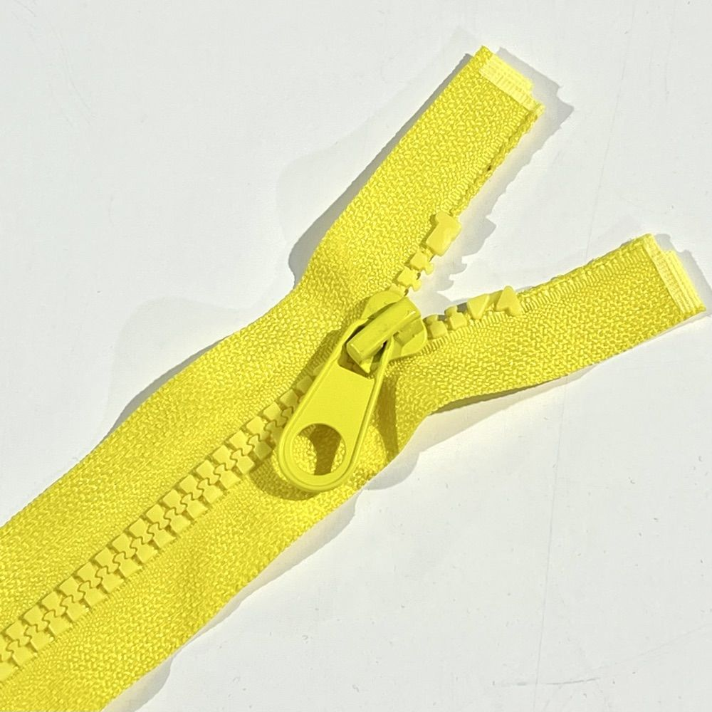 Chunky Open Ended Zip Yellow 10 Inches Up to 36 Inches