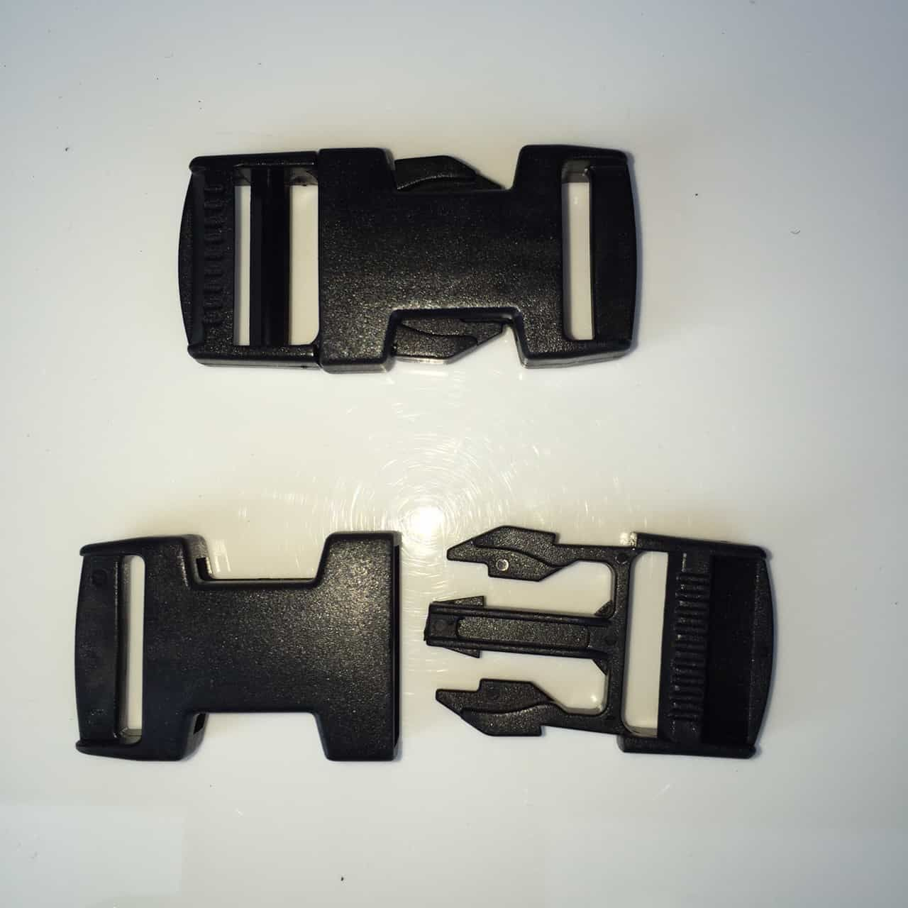 Easy Release Delrin Buckle Black 20mm For Use With Webbing