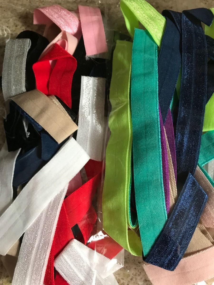 Remnant - 5m approx Fold Over Elastic Bundle: Minimum of 5 Various Colours: Lucky Dip