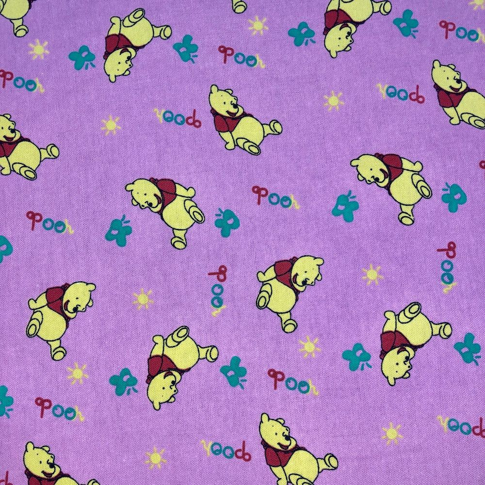 Winnie The Pooh Flannel Fabric - Pink