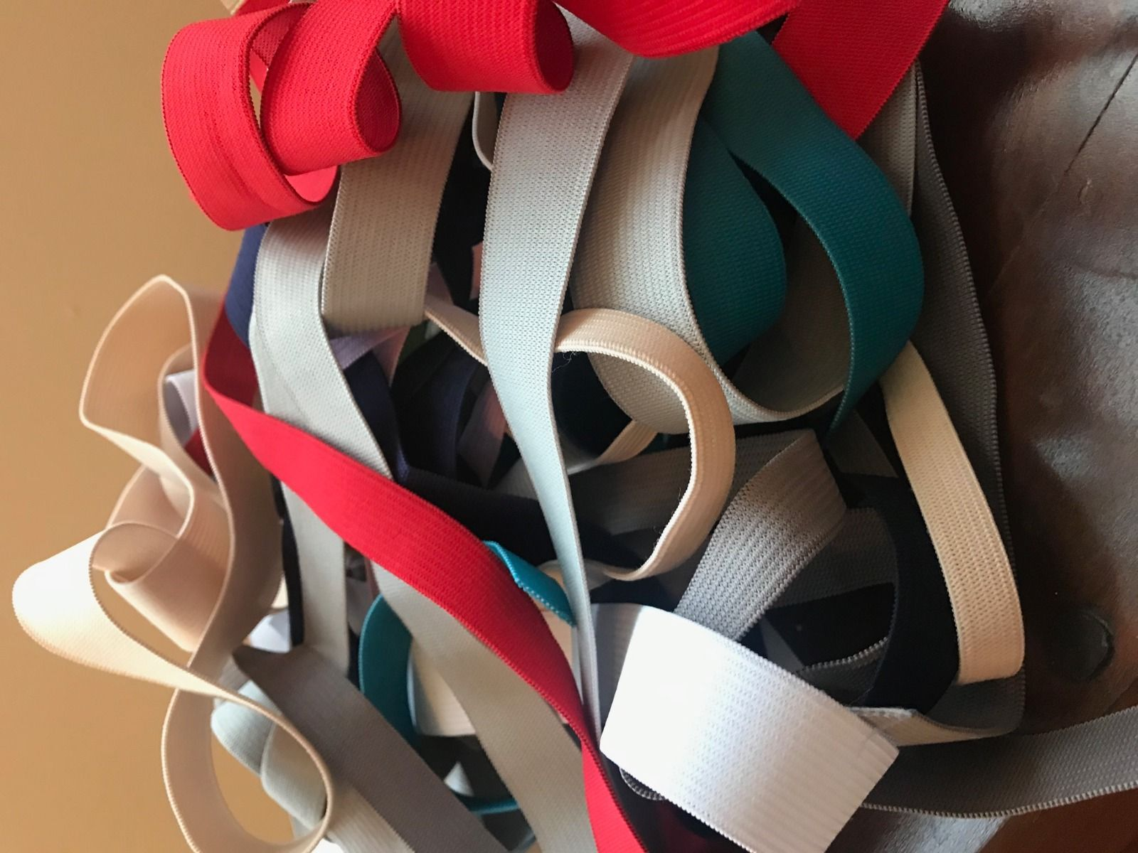 Remnant Mixed Elastic Lucky Dip Bundle - 10 metres approx