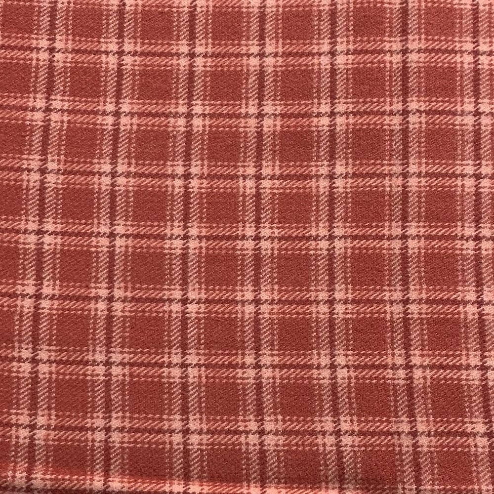 Marcus Fabrics - Coral Plaid Check Flannel Fabric