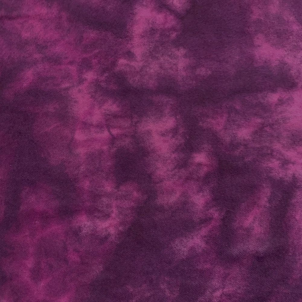 Remnant - Marcus Fabrics - Plum Hand Tie Dyed Flannel Fabric - 1m x 110cm