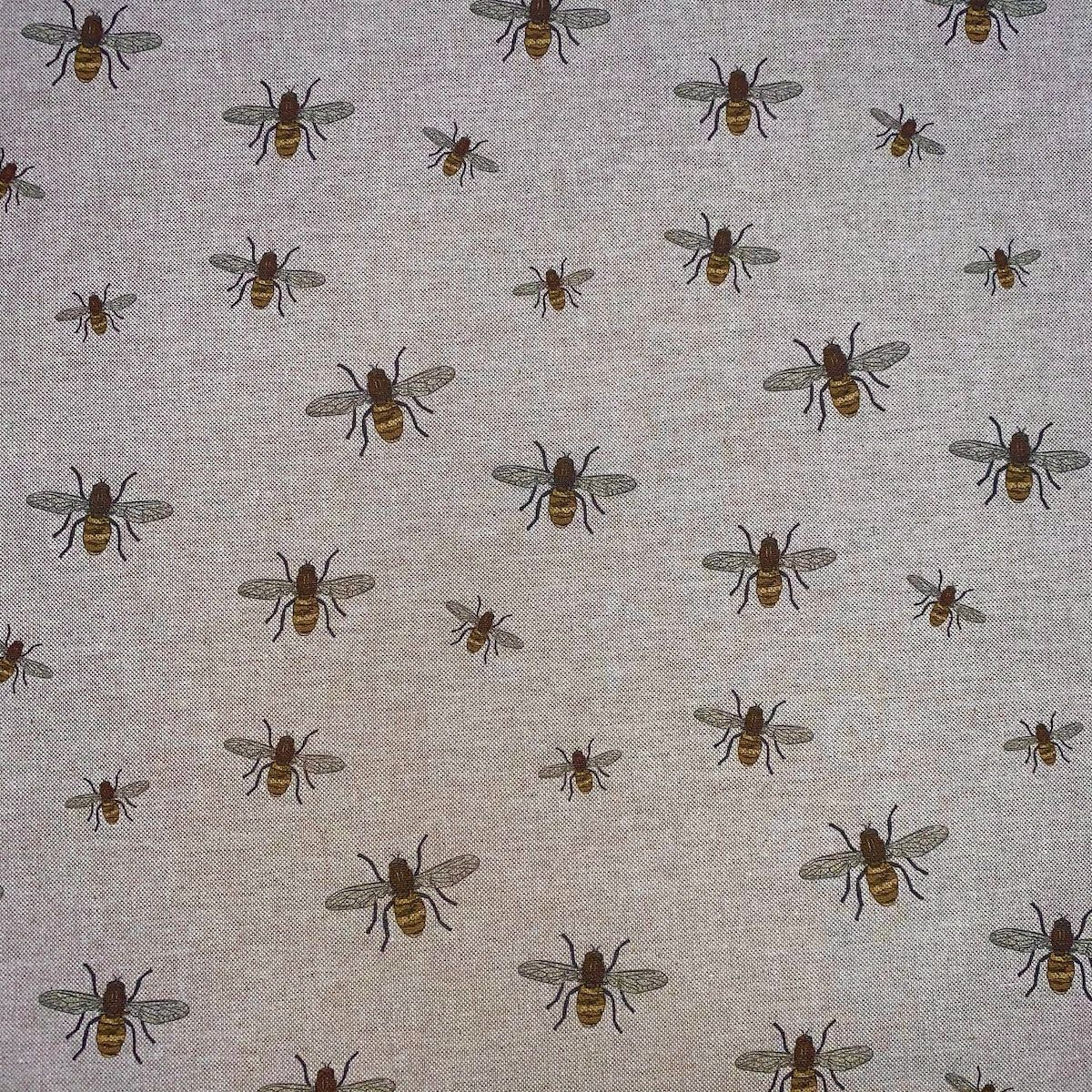 Digital Print Medium Weight Decorative Upholstery Fabric - Bees On Natural