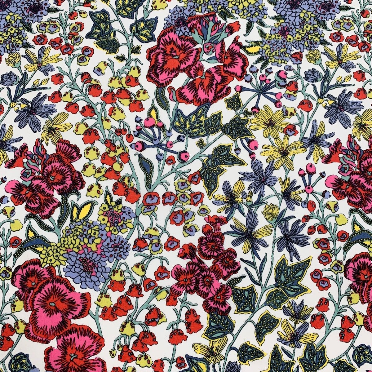 Cotton Lawn - Vibrant Country Floral