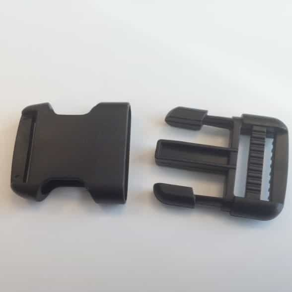 Easy Release Delrin Buckle Black 25mm For Use With Webbing