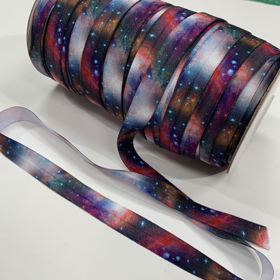 Fold Over Elastic 16mm Wide - Space Milky Way Design
