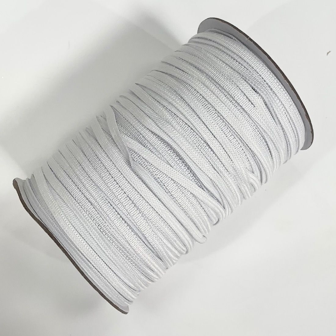 145m Roll Of Flat White 3mm Elastic For Face Masks